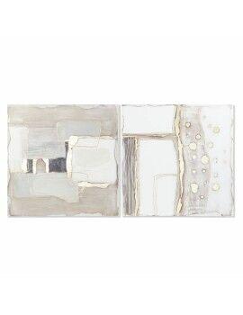 Estantes DKD Home Decor Metal Dourado Espelho (55 x 12 x 55 cm)