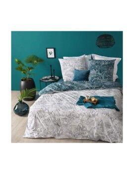 Toalha de Mesa DKD Home Decor Com cumes Cinzento Menta PVC (2 pcs) (140 x 140 x 140 cm)